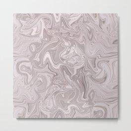 Faux Marble In Elegant Soft Pink Metal Print