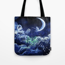 The Doctor Dreaming Of Fishing Tote Bag