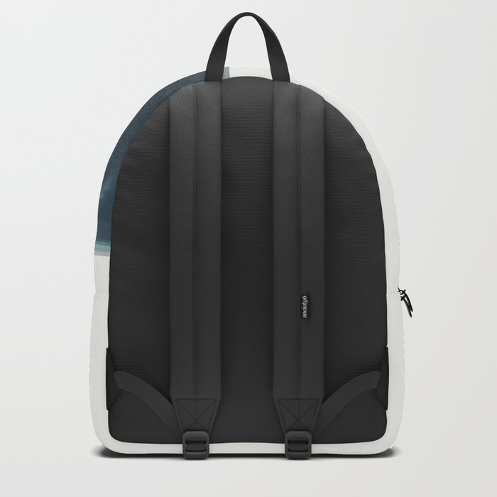Abstract Blue Green and Pink Backpack