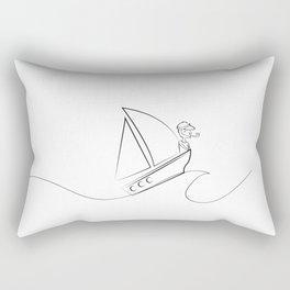 Sailor - wave - sailboat - pirate - captain Rectangular Pillow