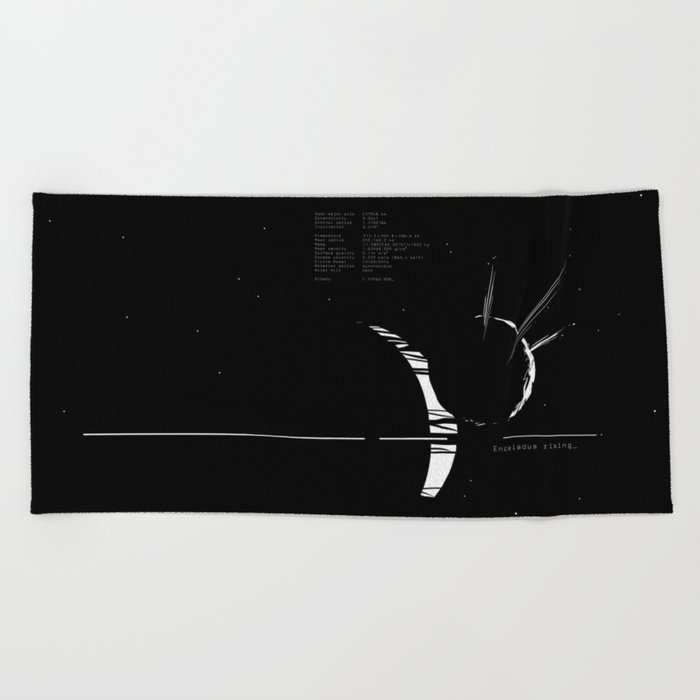 Enceladus rising_ Beach Towel