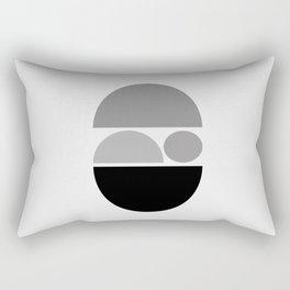 Zen Baby - Calm Abstract - Black White Grey Rectangular Pillow