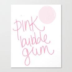 Pink bubble gum Canvas Print