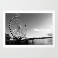 Seattle Great Wheel Art Print
