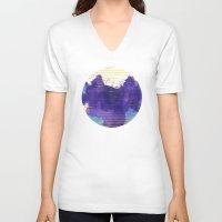 rorschach V-neck T-shirts featuring Rorschach by Sonia Garcia