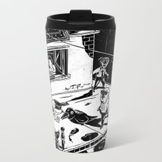 Pipien Molestus in the city Metal Travel Mug