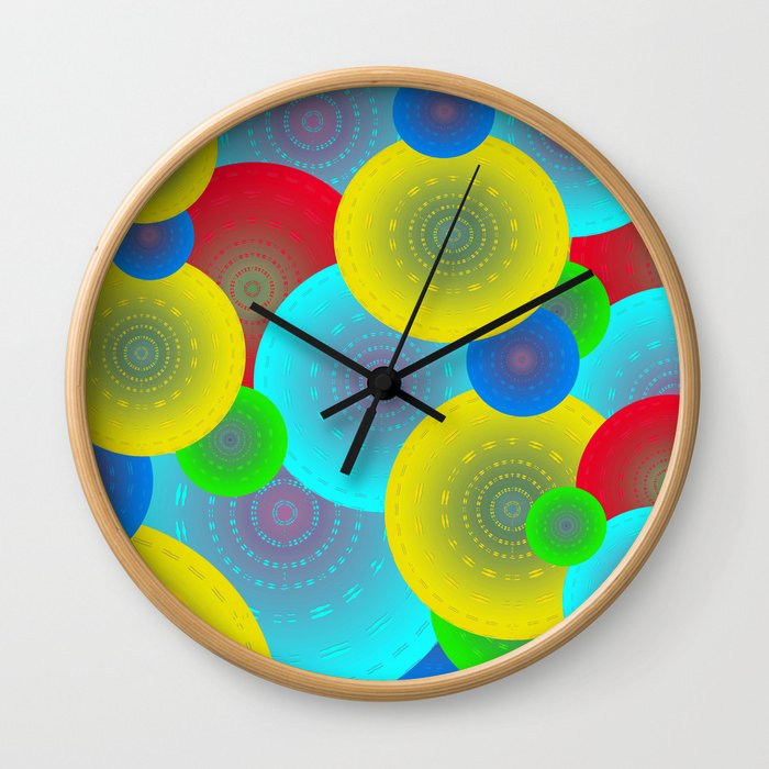 Inner Child Abstract Wall Clock