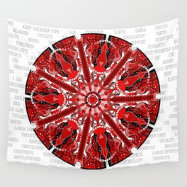 Root Chakra Mandala with Text Wall Tapestry