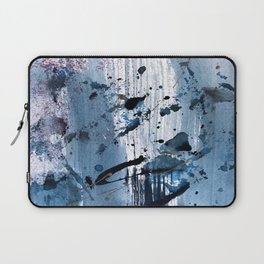 Breathe [6]: colorful abstract in black, blue, purple, gold and white Laptop Sleeve