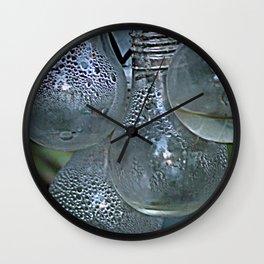 Rain on Light Bulbs Cluster Wall Clock