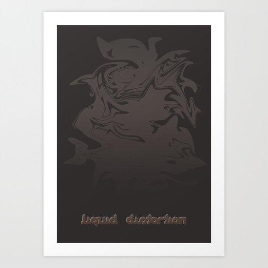 Liquid Distortion Mark II Art Print