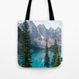 Moraine Lake - Trees Tote Bag