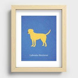 Canadian Dogs: Labrador Retriever Recessed Framed Print