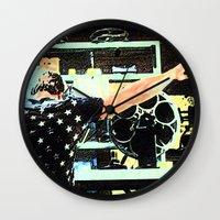 tyler durden Wall Clocks featuring What Would Tyler Durden Do by Jay Joseph