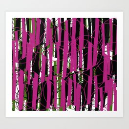 Wired Pink and Green from my Fall Collection Art Print