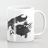 xenomorph Mugs featuring The Queen Alien by DWatson