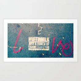 Soho Sidewalk  Art Print