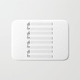 Musical Staff and Staves Bath Mat