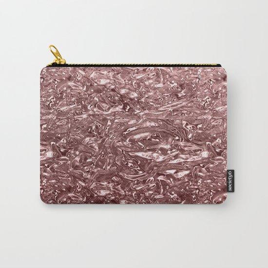 Rose Gold Pink Liquid Metallic Chrome Metal by christyne