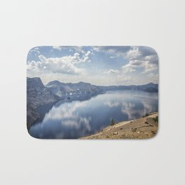 Crater Lake with a view of the Phantom Ship Bath Mat