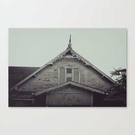 Sepia/Black and white Gingerbread Home Print, Historic Home Print, Colonial Home Photography, Trini Canvas Print