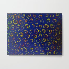 Blue Color Swirl Metal Print