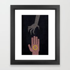 Lord of the Rings Minimalist Posters: Towers Framed Art Print