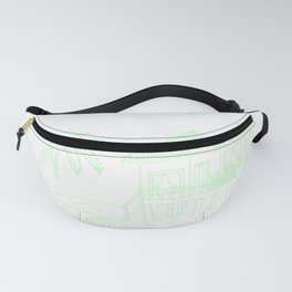 Summer vacation palms party celebrate island sea Fanny Pack