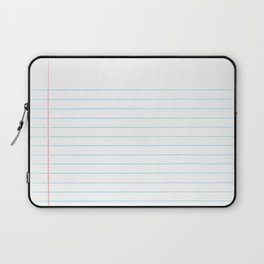 Notebook Paper Digital Watercolor School Chalk Laptop Sleeve