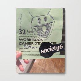 Society 6 Workbook Metal Print