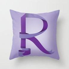 Alphabet R Throw Pillow