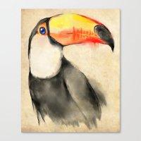 toucan Canvas Prints featuring Toucan by akaori_art