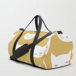 Sweet sleepy kitty cats kawaii baby animals kids pattern Duffle Bag