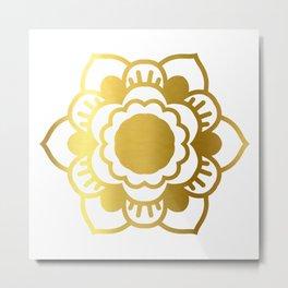 Gold Mandala 5 Metal Print