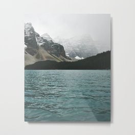 misty mountain lake Metal Print