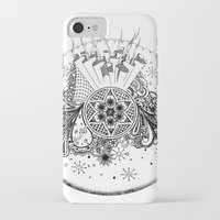 zentangle iPhone & iPod Cases featuring Zentangle by Alex Vladoiu