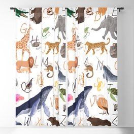 Animal Alphabet Blackout Curtain