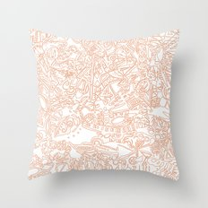 These Lines [We Draw] Throw Pillow