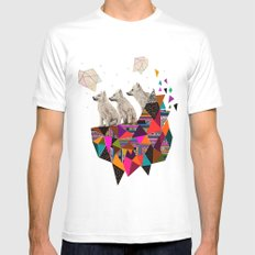 The Night Playground by Peter Striffolino and Kris Tate White MEDIUM Mens Fitted Tee