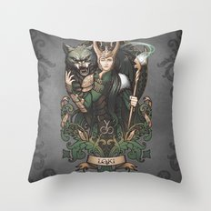 House of Loki: Sons of Mischief Throw Pillow