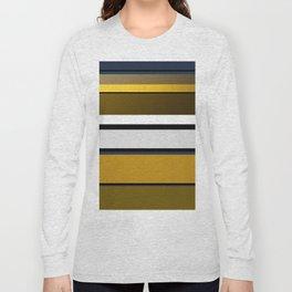 Golden Stripes Pattern Long Sleeve T-shirt