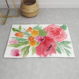 Floral Watercolor Bouquet Rug
