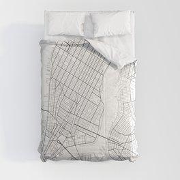 New York Map, Manhattan, USA City Map Comforters