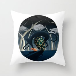 Blue Nightmare Throw Pillow