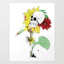Sunflower get away Art Print