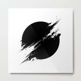 The Sun Is Black Metal Print
