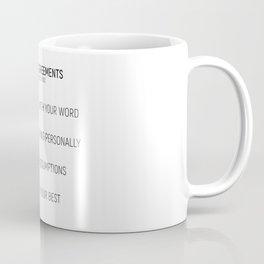 The Four Agreements #minismalism #shortversion Coffee Mug
