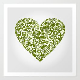Heart the industry Art Print