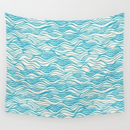 Clean blue river Wall Tapestry