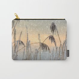 Phragmites Reed grass in the snowfall Carry-All Pouch